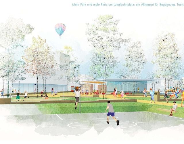 Entwicklung Lokalbahnhof-Areal und Umgebung in Wels