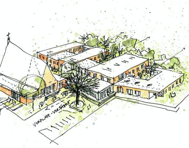 Ideenfindung für den Umbau der Heilig Geist Kirche und Neubau einer ambulant betreuten Wohngemeinschaft mit Tagespflege in Bramsche
