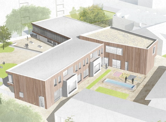 1. Rang: Kirchhof, © Heidacker Architekten