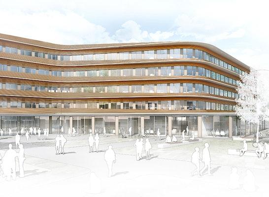 Anerkennung neubau verwaltungszentrum stadt freiburg - Behnisch architekten boston ...