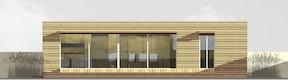 Ansicht Terrassenbereich, Variante 5 (5 Personen, 45m2)
