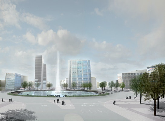 Teilnahme: Perspektive Fontaine Ernst-Reuter-Platz, © Lützow 7
