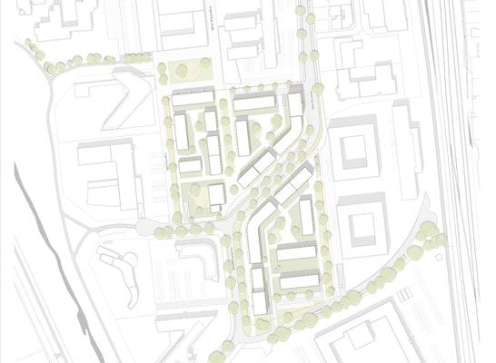 1st Prize: Rahmenplan, © BURHOFF und BURHOFF Architekten BDA