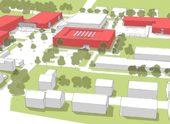 Zuschlag: Neustrukturierung IGS Mainz-Hechtsheim: ARGE Heidacker Architekten + Sinopoli Archiktekten
