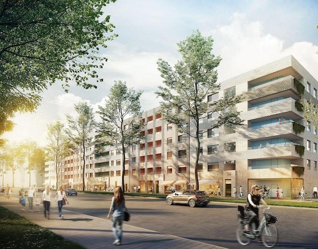 Stadtquartier Zollhafen Mainz Wohngebäude mit Kindertagesstätte Rheinallee IV