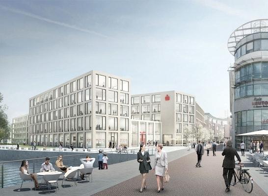 1. Preis: Blick von der Aa, © Kleihues + Kleihues Gesellschaft von Architekten mbH