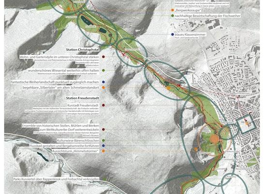 1st Prize: Übersicht Masterplan M 1:5000, © Planstatt Senner