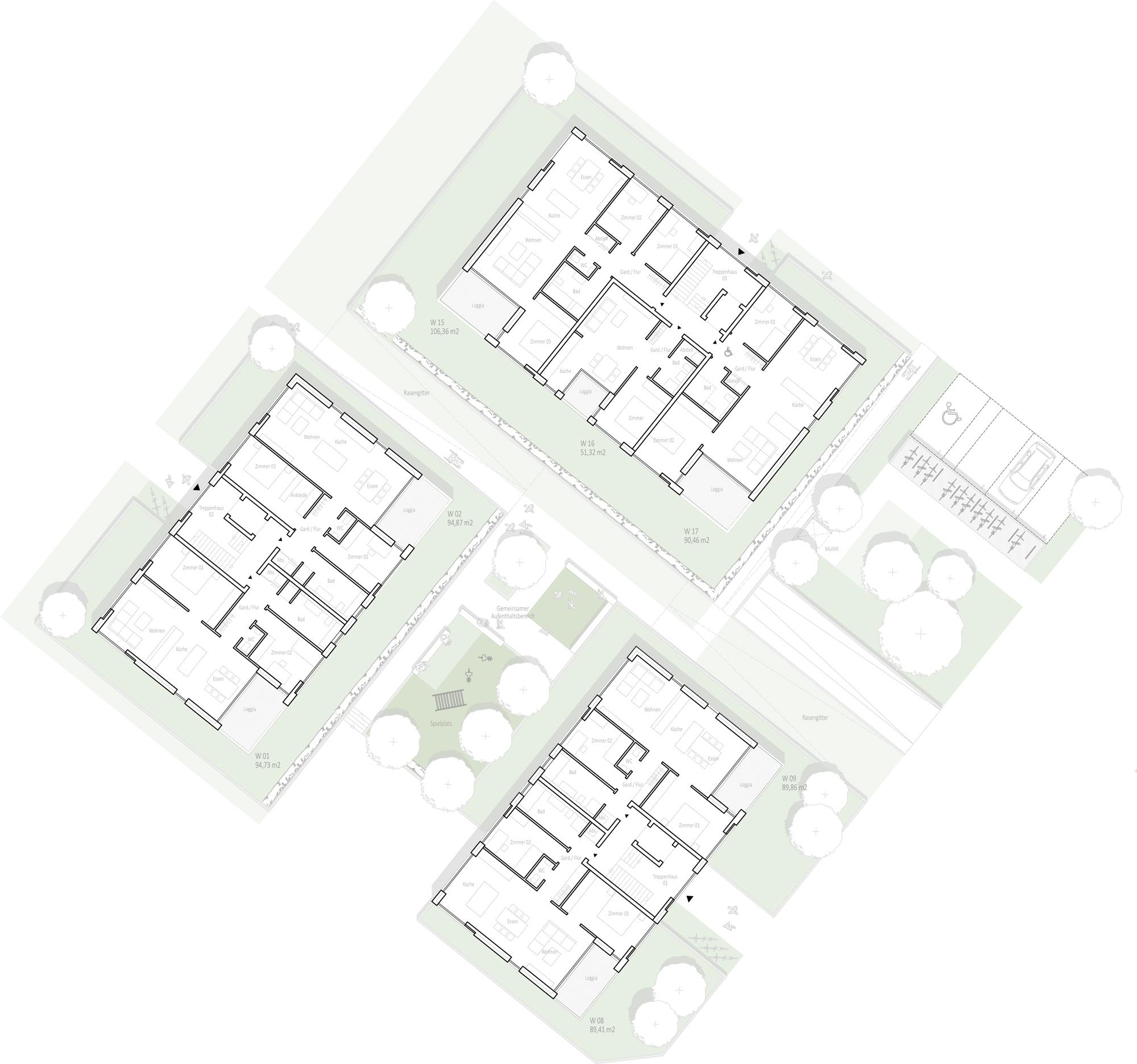 Ergebnis Neubau Von Wohngebauden Und Geschaftsgeb Competitionline