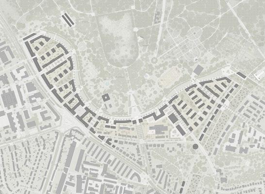 1. Preis: Städtebauliches Strukturkonzept, © LEISMANN AG / MAURUS SCHIFFERLI LANDSCHAFTSARCHITEKTEN
