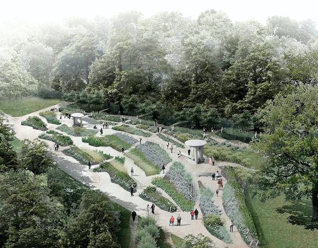 Gestaltung des Jüdischen Gartens in den Gärten der Welt in Berlin