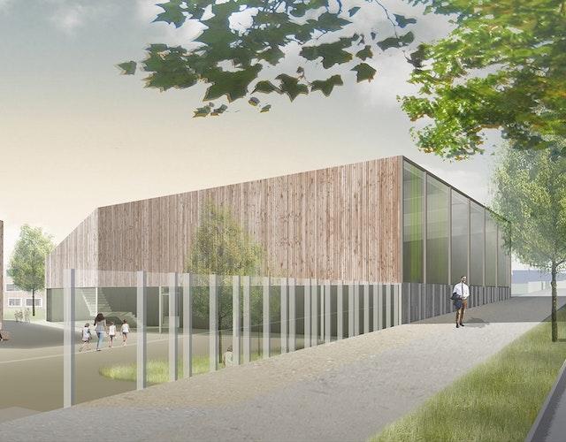 Karl Schubert Schule Leipzig, Freie Waldorfschule e.V.: Neubau einer Mehrzweckhalle für Sport und Veranstaltungen mit Werkstätten