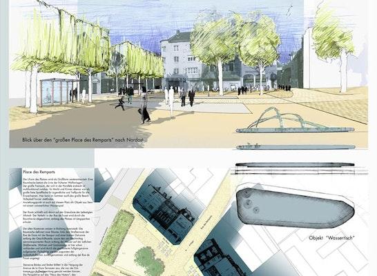 Ergebnis Gestaltung Mehrerer Plätze Im Stadtzentrucompetitionline