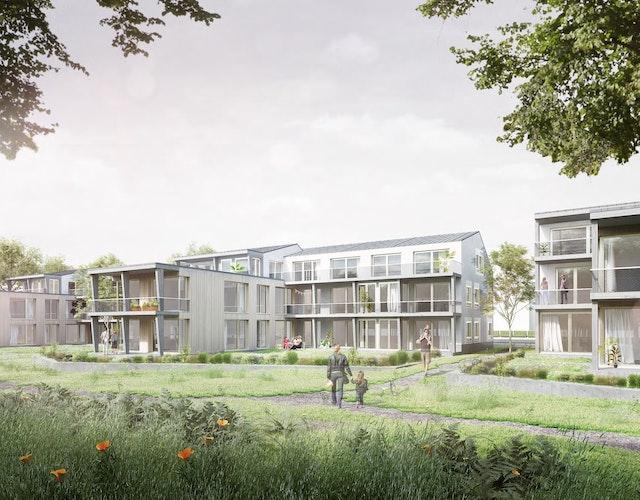Neubau eines Wohn- und Verwaltungsgebäudes im Siedlungsgebiet der Margarethenhöhe in Essen