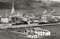 Foto - Historisches Bahnhofsumfeld in Prien um 1900