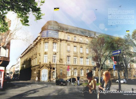 Ergebnis polizeipr sidium mannheim erweiterung f - Architektur mannheim ...