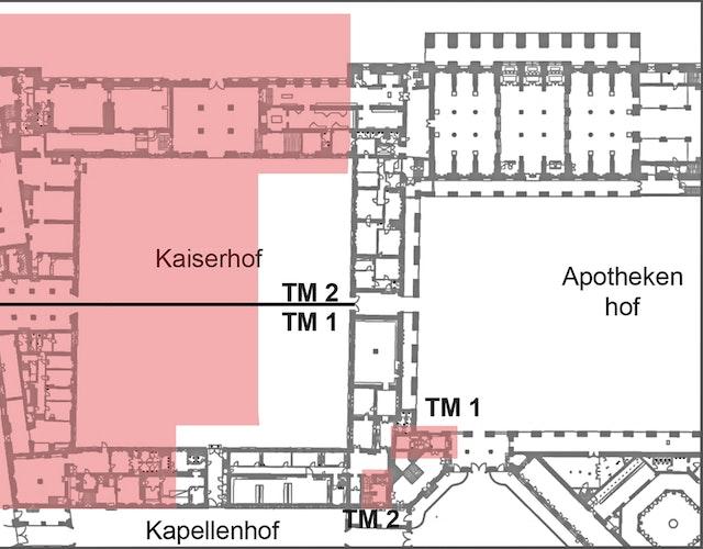 """Residenz München, Sanierungs- und Ausbaumaßnahmen """"Kaiserhoftrakte Nordwest""""/Begleitende Architektenleistungen zur Sanierung der Haustechnik"""