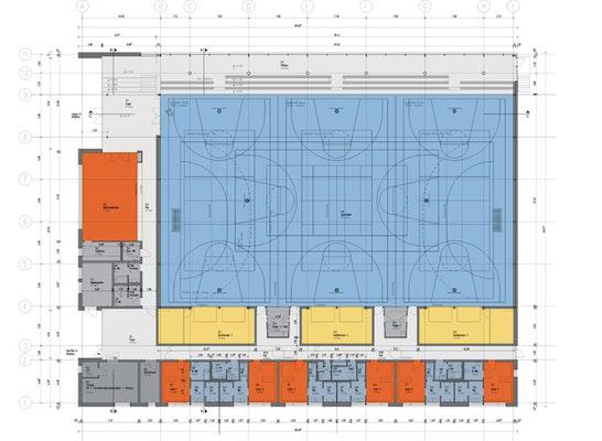 Ergebnis Neubau Einer 3fach Sporthalle Generalplan