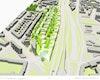 Städtebauliche Visualisierung_Vogelperspektive Ost