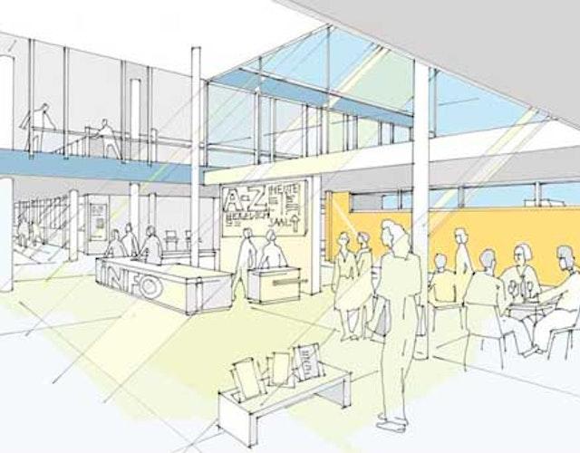 """""""Zentralbibliothek der Zukunft zb+"""" - Sanierung, Modernisierung und Erweiterung der Zentralbibliothek Mönchengladbach"""