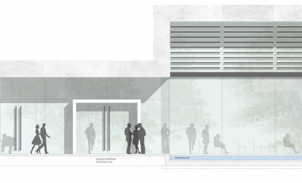 Glasfassade textur  1. Preis Stadthalle Neunburg vorm Wald...competitionline