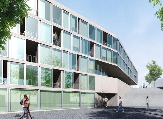 Ergebnis Neubau Studentenwohnheim Und Kindertagesst