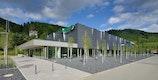 elobau Produktionshalle - Südwesten, Zugang, Verwaltung, Birkenhain