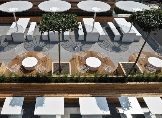 projekt mitarbeitercasino mit terrasse competitionline. Black Bedroom Furniture Sets. Home Design Ideas