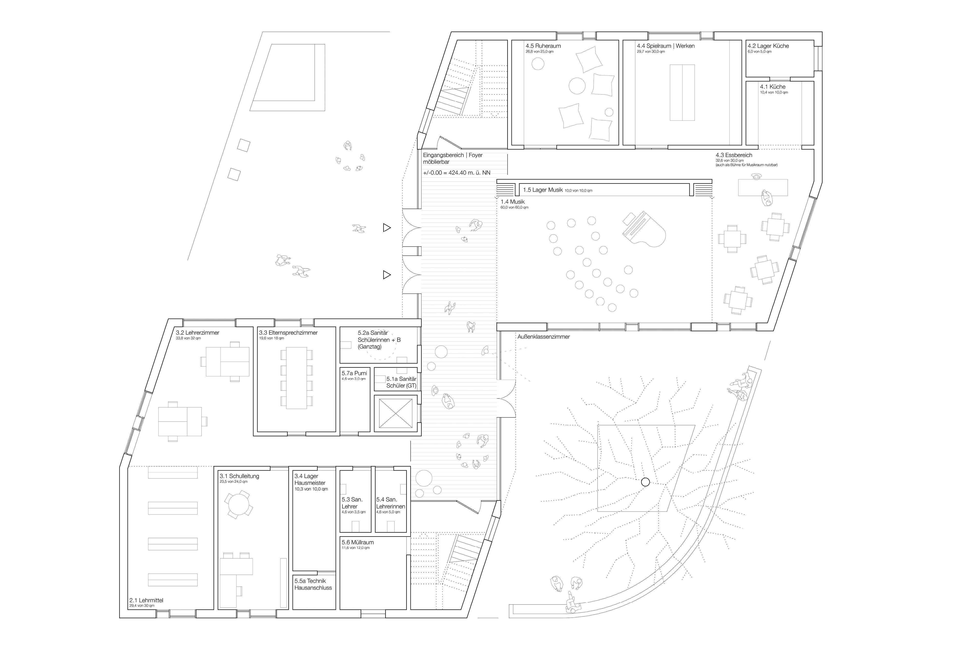 Ergebnis: Neubau einer einzügigen Grundschule mit s...competitionline