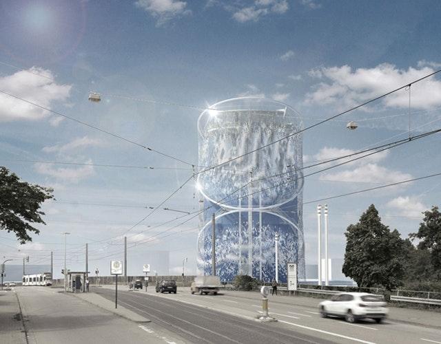 Gestaltung des Energie- und Zukunftsspeichers einschließlich Gastronomie und Freiflächen im Energiepark Heidelberg