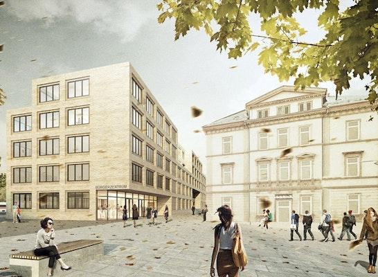 Neubau st dtisches verwaltungszentrum competitionline - Kohler grohe architekten ...