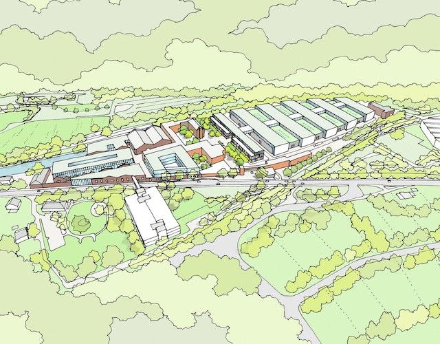 Masterplanung Wiehl-Ost - Umstrukturierung Produktionshallen Werk Wiehl