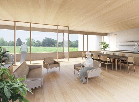 1. Preis: Innenraum Visualisierung, © Johannes Kaufmann Architektur