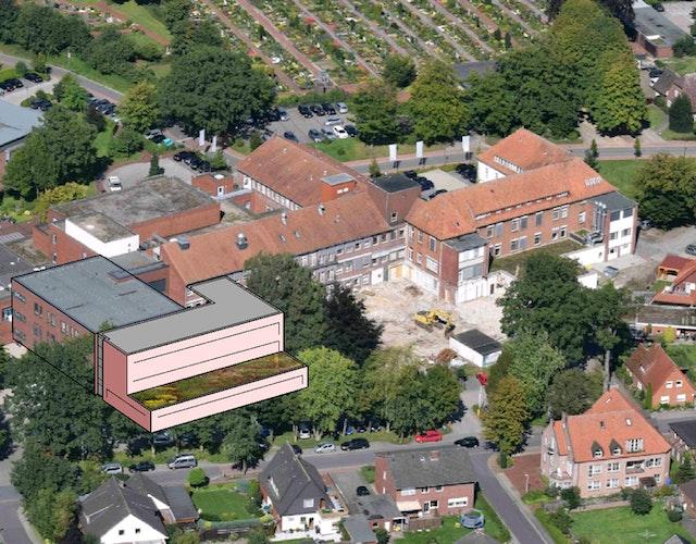 St-Marien-Hospital Friesoythe: Erweiterung der Intensivstation und des Zentral-OP´s und Verbesserung der Pflegestrukturen