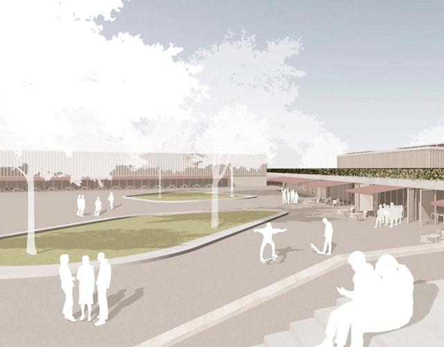 Neubau des Gymnasiums mit Dreifachturnhalle, Zweifachturnhalle und Freianlagen in Langenhagen