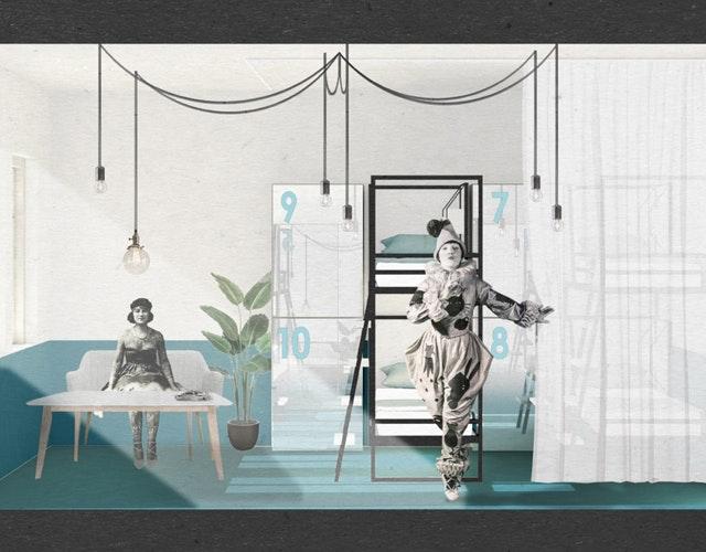 Gestaltungskonzept The Circus Hostel