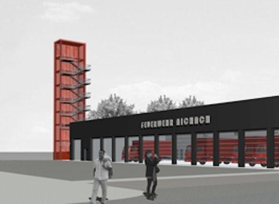 Ergebnis Neubau Eines Feuerwehrger 228 Tehauses Schl