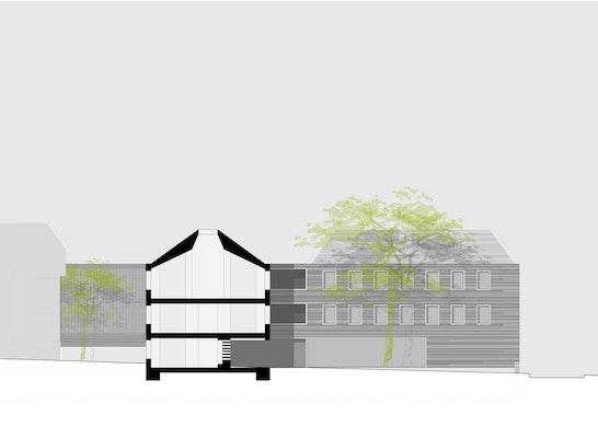 ergebnis um und neubau eines verwaltungsgeb 228 udes. Black Bedroom Furniture Sets. Home Design Ideas