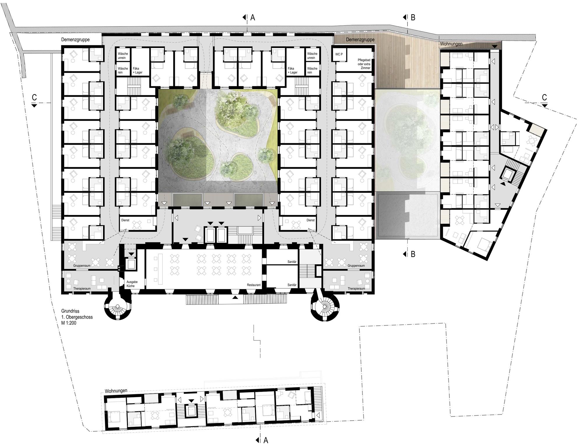 3rd Prize Anbau / Umbau Renaissance-Schloss Augusten...competitionline