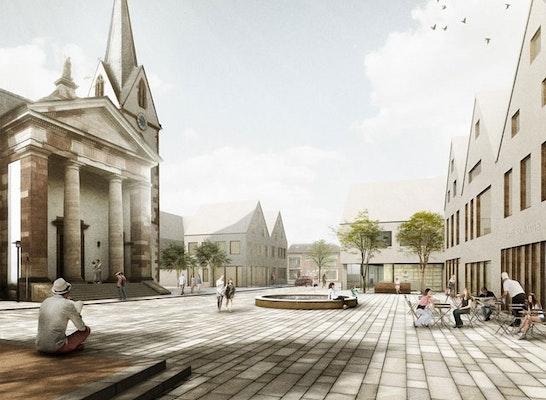 1. Preis: Blick über den Vorplatz St. Anna