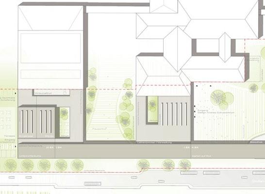 anerkennung neubau stefan andres gymnasium in schwe competitionline. Black Bedroom Furniture Sets. Home Design Ideas