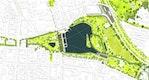 Konzept Woogspark: 1:1000, © geskes.hack Landschaftsarchitekten GmbH, planquadrat Elfers Geskes Krämer PartG mbB, Planungsbüro von Mörner