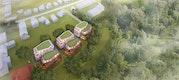 czerner göttsch architekten: Übersicht von Südost - Vier Villen im Park