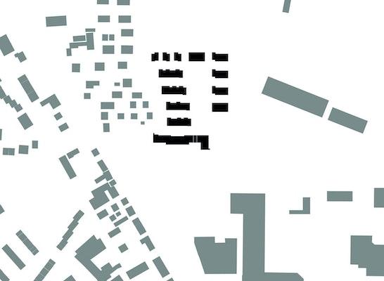 Schwarzplan  -  Einbindung in die Stadtstruktur