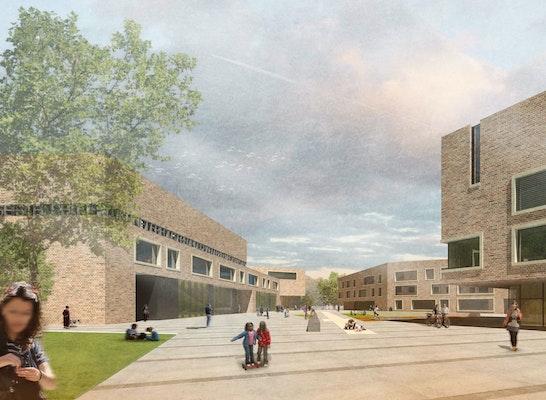 3 rang campus steilshoop stadtteilschule am see u competitionline. Black Bedroom Furniture Sets. Home Design Ideas
