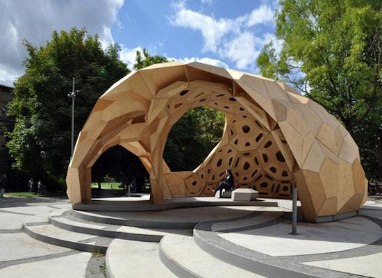 projekt icd itke forschungspavillon 2011 competitionline. Black Bedroom Furniture Sets. Home Design Ideas