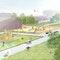 Spiel- und Liegewiese, Kleinkinderspielplatz, Wegeflächen mit Sitzgelegenheiten, Liegewiese und zwei Wildblumenwiesen