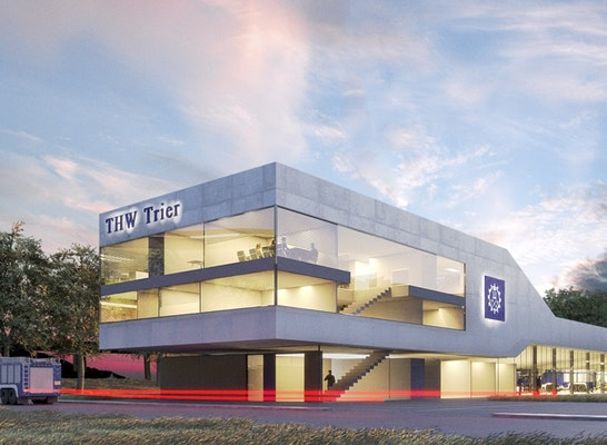 1. Preis: Wettbewerb THW Trier, 1. Preis Stocker Dewes Architekten