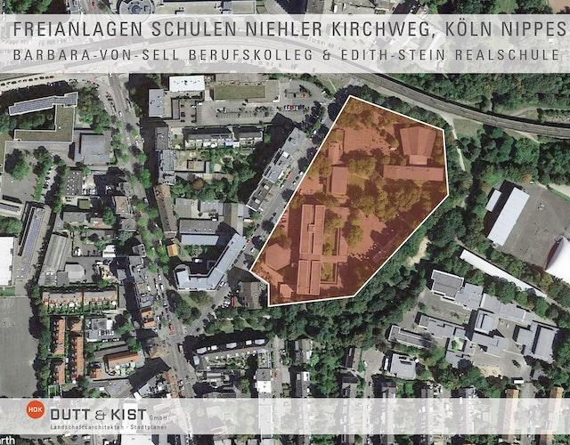 Erweiterung des Barbara-von-Sell Berufskollegs und der Edith-Stein-Realschule - Freianlagenplanung