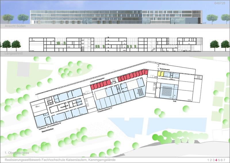Architekt Kaiserslautern ergebnis fachhochschule kaiserslautern kammgarngel competitionline