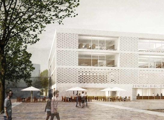 Neubau Der Zentralbibliothek Der Justus Liebig Unive